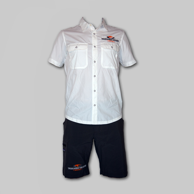 "Completo dopo gara ""Patagonia"" El Ray Shirt + Rock Guide Shorts"
